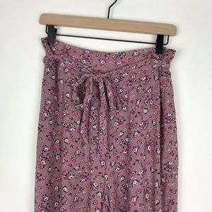 High Waisted Wide Legged Floral Pants Size Medium